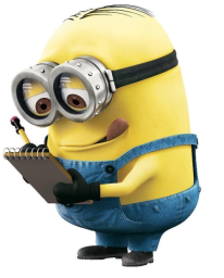 Minion with clipboard