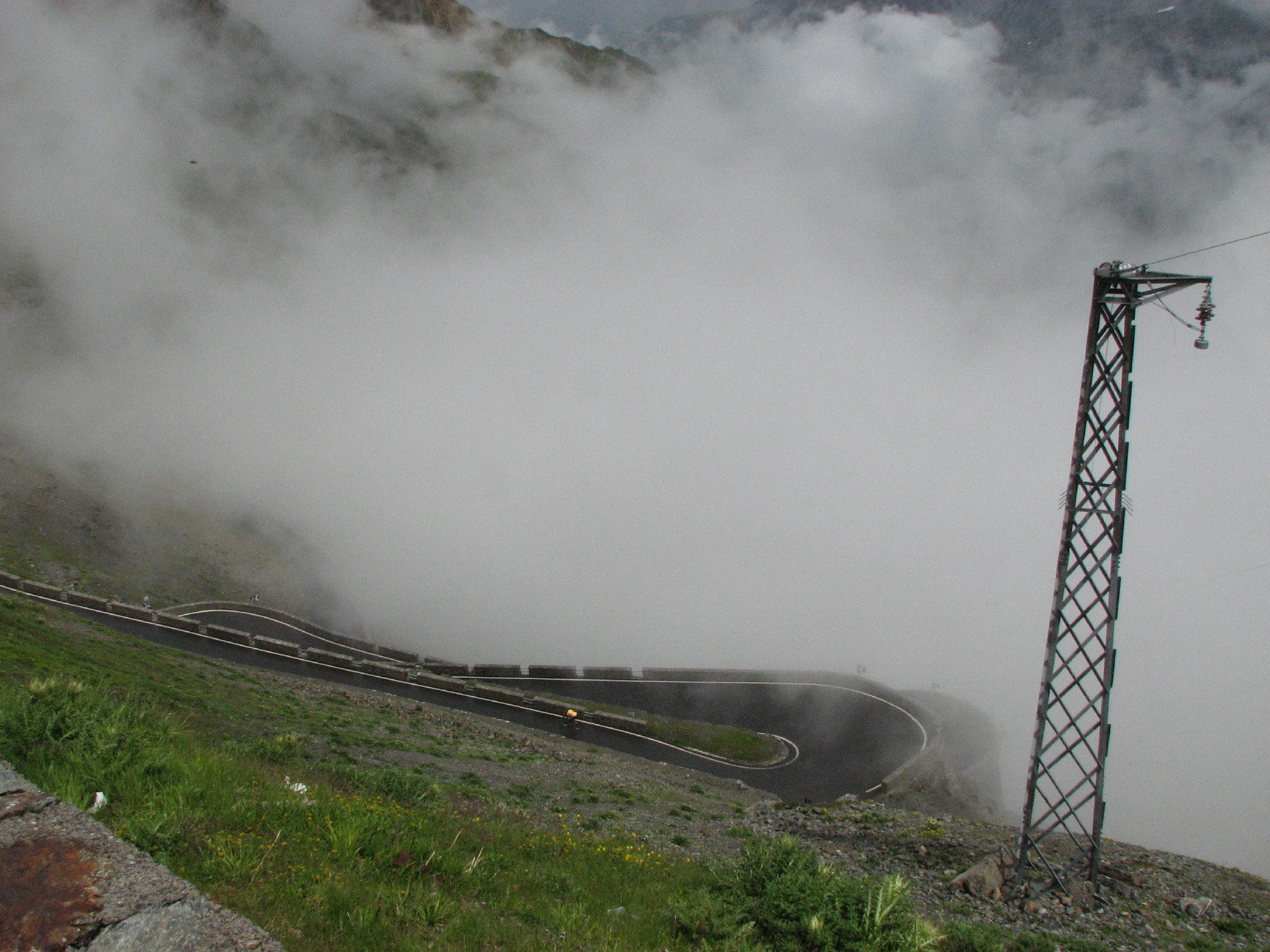 Stelvio - no view at the summit
