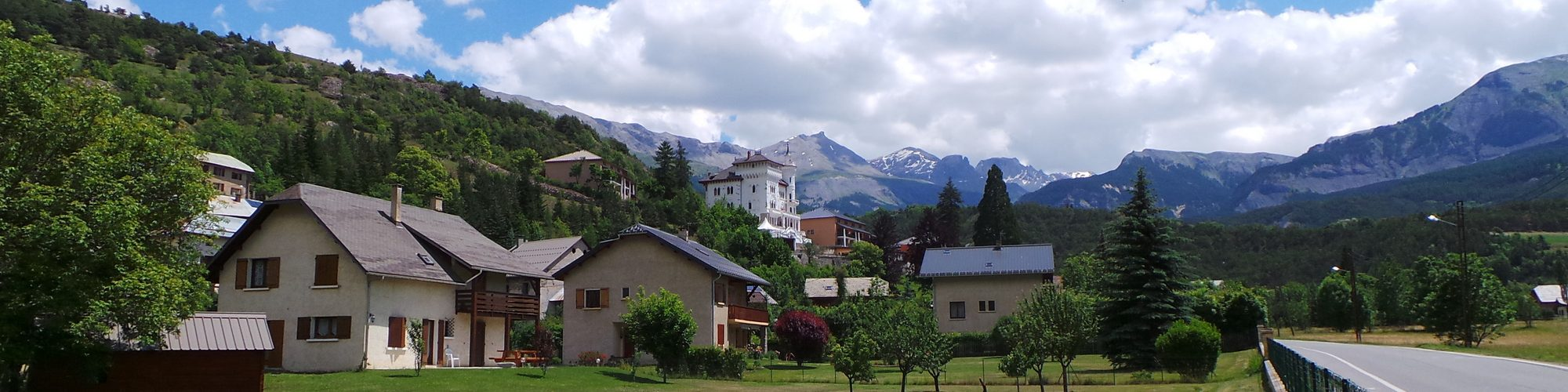 Tour de France 2014 - Part 3: View from the apartment in Jausiers towards the Bonette